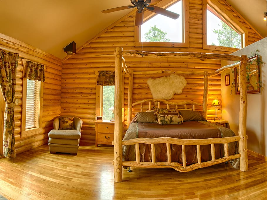 Luxury Log Cabin W Pikes Peak Views For Families Cabins For Rent In Woodland Park Colorado