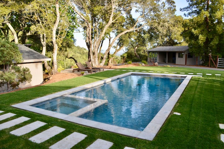 Contemporary Sonoma Hillside Retreat with Pool