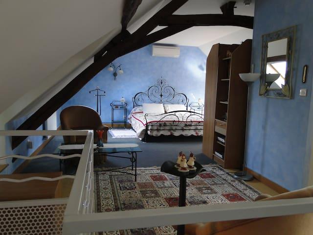 Loft douillet dans Maison de caractère en Berry - La Chapelle-Saint-Ursin - Casa