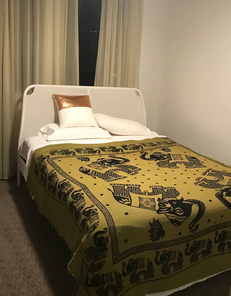 Beautifully furnished and there is desk and a light and a built in for clothes  The bed is only 2 years old