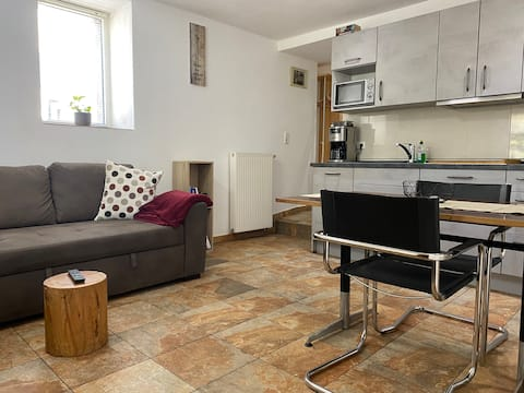 Two-room apartment with private parking space