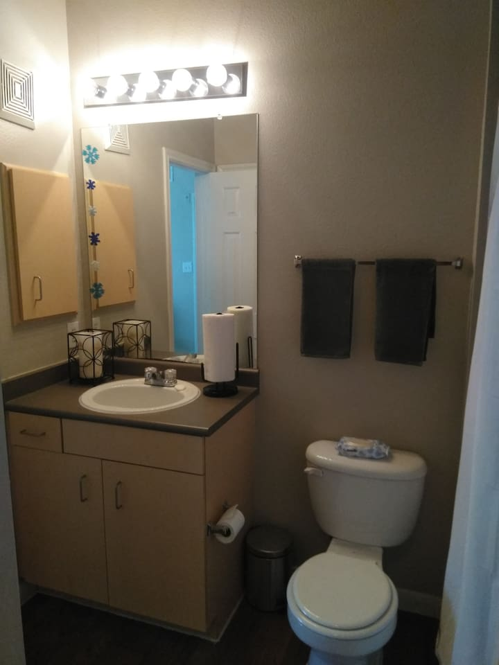 Private bathroom within private bedroom