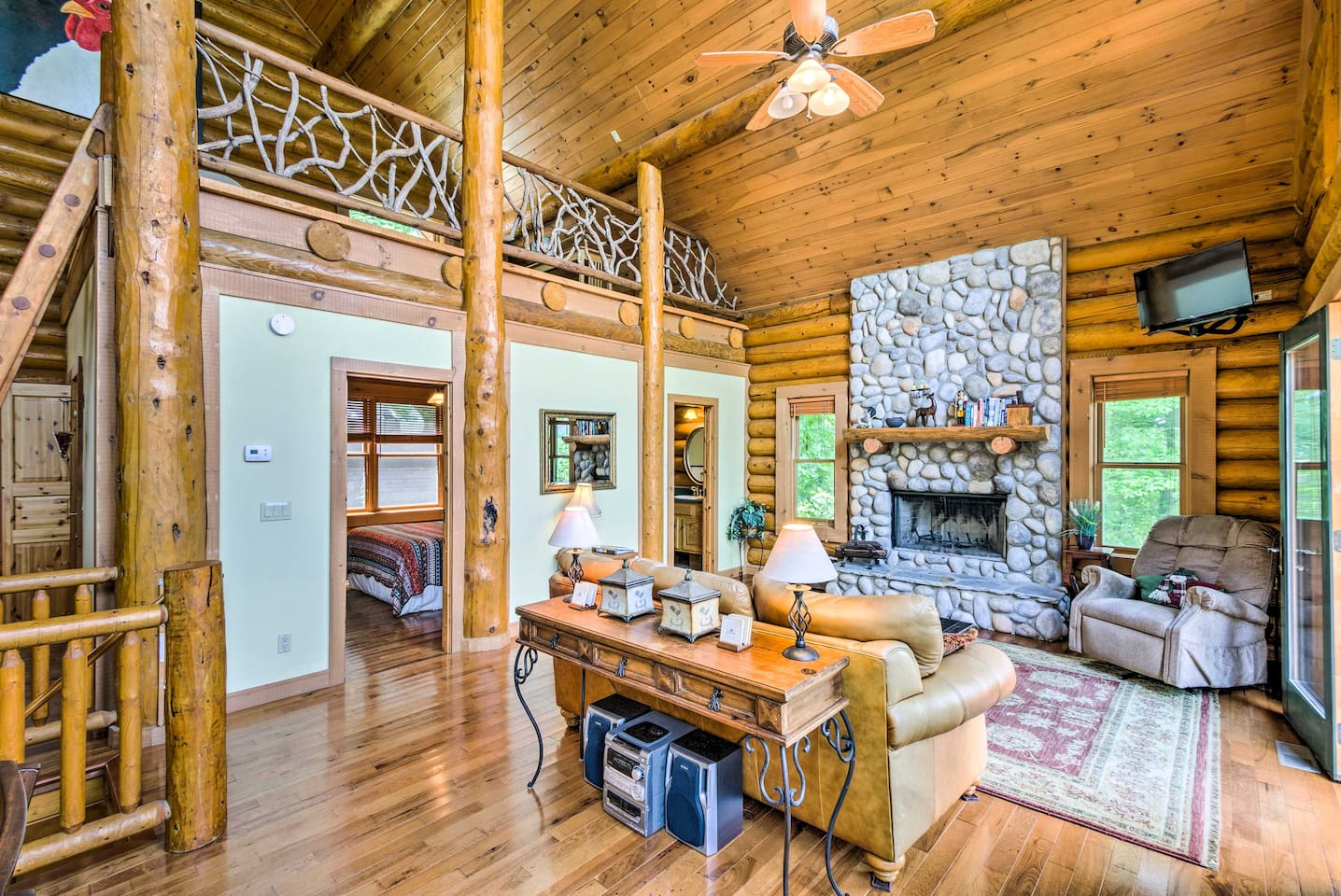Book your Topton escape to this 4-bedroom, 2-bath vacation rental cabin!