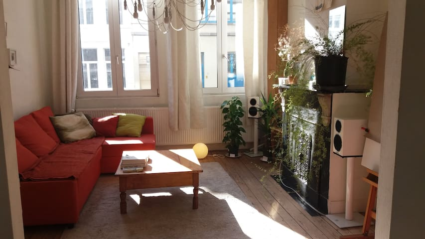 Old Townhouse Flat in Trendy Area