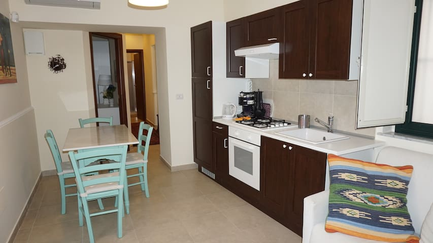 Living/dining room with kitchenette