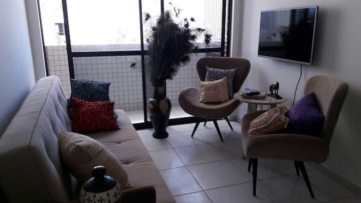 Apartamento acolhedor para visitantes amiga(o)s