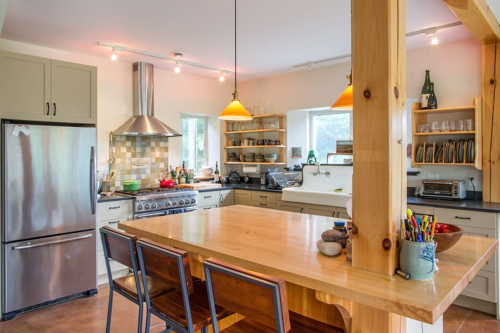 Well appointed and spacious kitchen