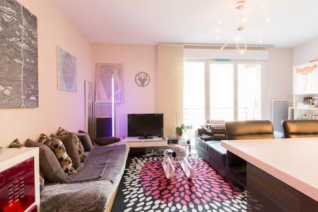 Chambre dans appartement au coeur des alpes. - Albertville - Lyxvåning