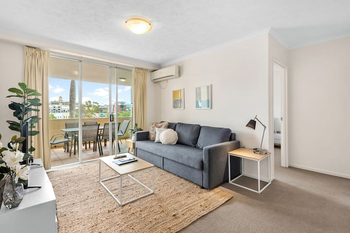 Perfectly Positioned Apartment with HUGE Balcony!