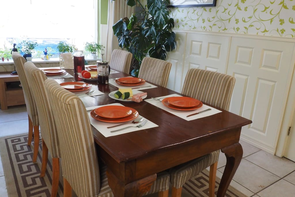 Dine at home or at the numerous restaurants in town.