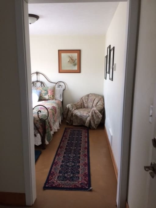 Entrance and queen sized bedroom