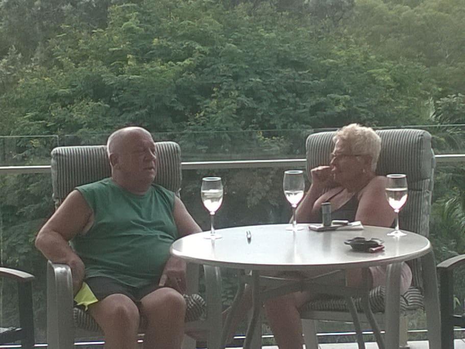 Guests relaxing