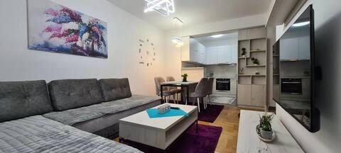 Stylish Violet & Modern Apartment