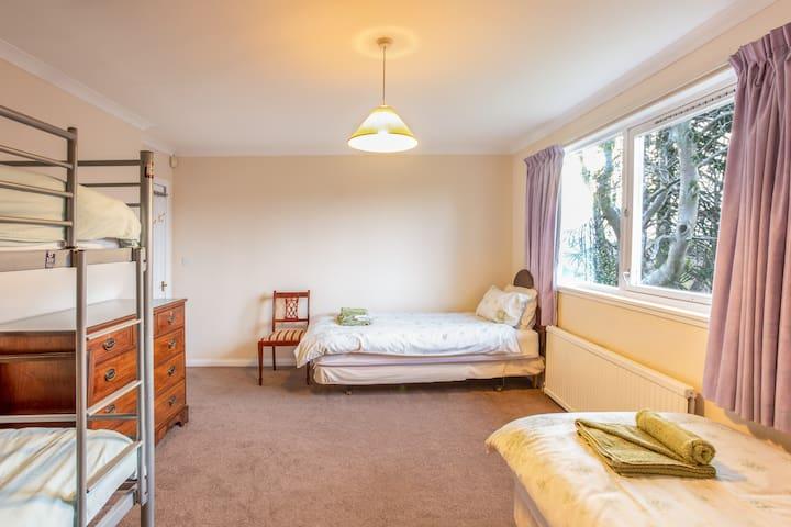 "Bedroom 2 - Quad-Family Room  [Standard single mattress sizes = 3' x 6'3""]"