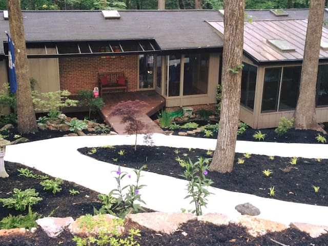 Treehouse: Midcentury near Downtown Greenville