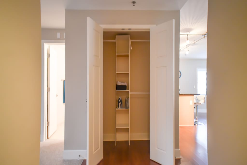 Coats and shoes will not be cramped in this closet
