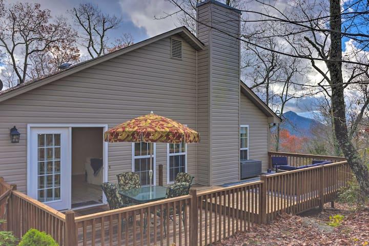 NEW! Cozy Sapphire Resort Home w/ Deck & Mtn Views