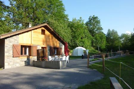 """Le """"nordique""""  : chalet,bain norvégien - Camous - Huis"""