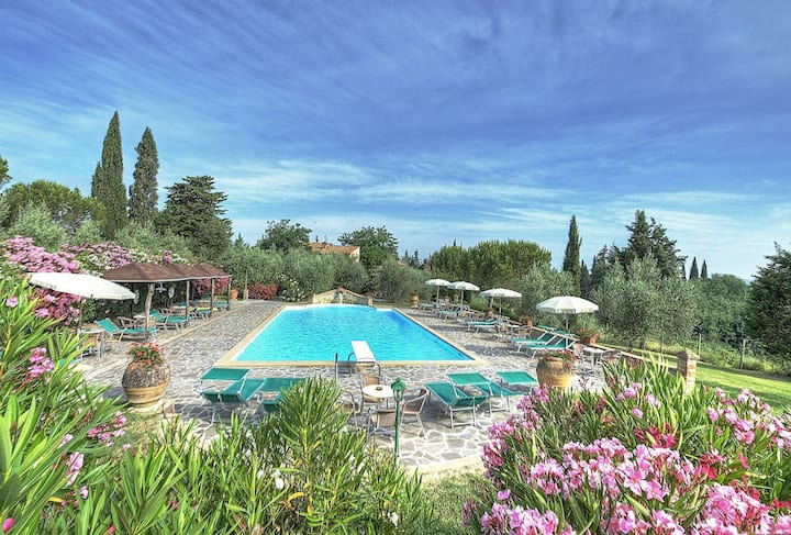Montelopio 6 - Holiday Rental with pool in Chianti, Tuscany