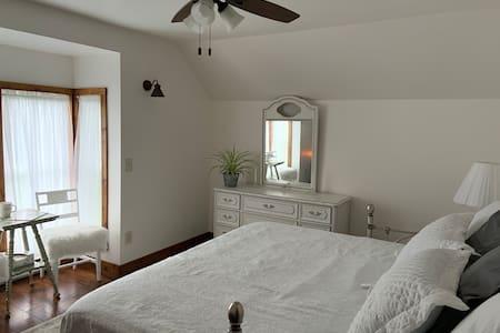 Beautiful Bedroom on our Working Organic Farm