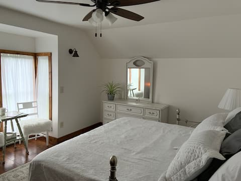 Beautiful Bedroom on our Working Organic Farm