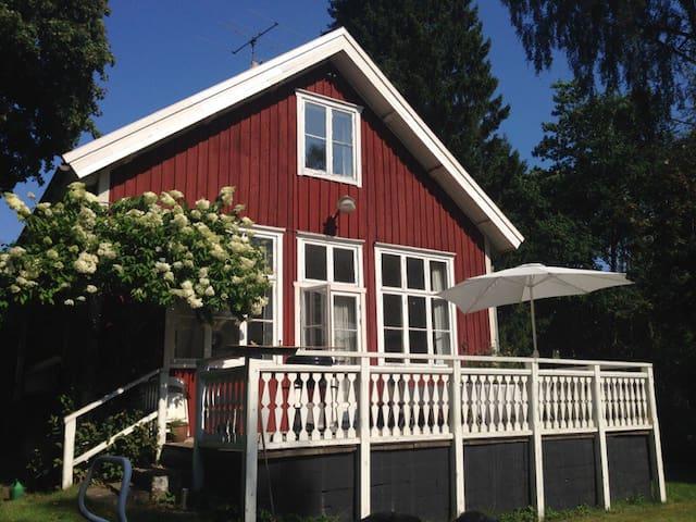Skolstugan - svensk ødegård nær DK - Hylte V - Chatka
