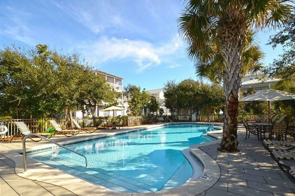Summer's Edge features a large outdoor heated pool!