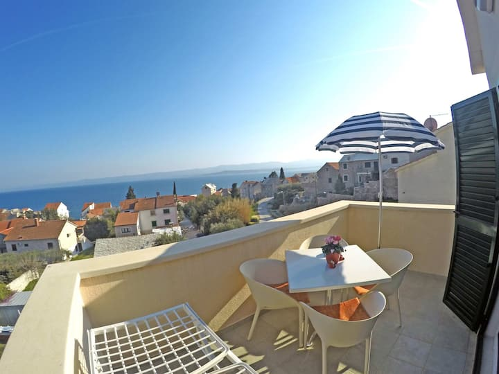 App BOROVINA 4 for 4 persons with great sea view