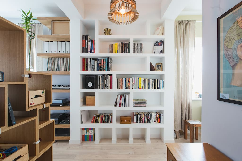 Entrance bookcase