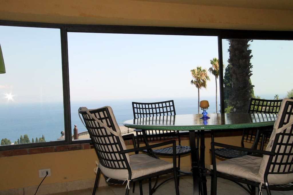 The amazing view from the Full covered Patio ;windows are openable and there is also a balcony