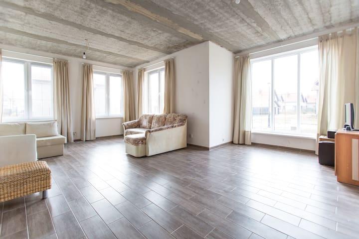 Светлый дом в стиле loft