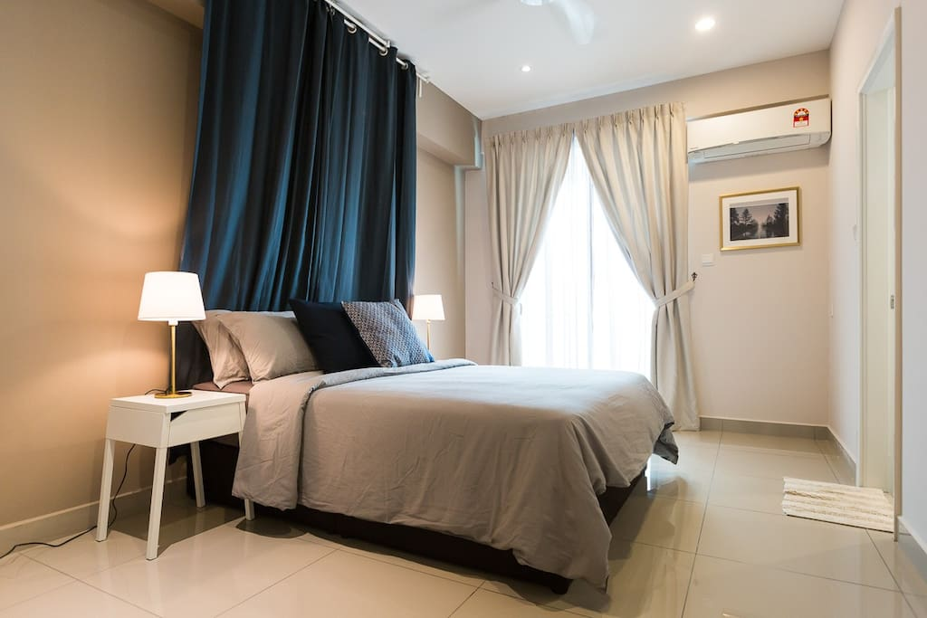 Bedroom 2: The comfortable queen size bed with specially design style in the room. There is an attached balcony with perfect seaview too.