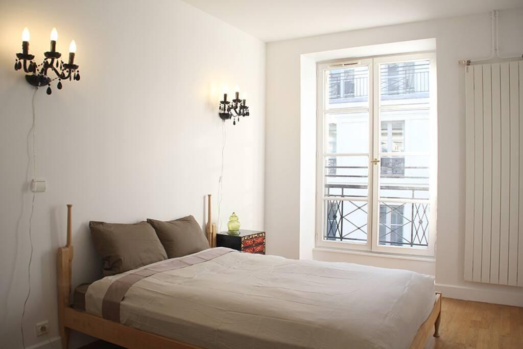 2nd bedroom: Brand new mattress, sleeps 2. Big wardrobe.