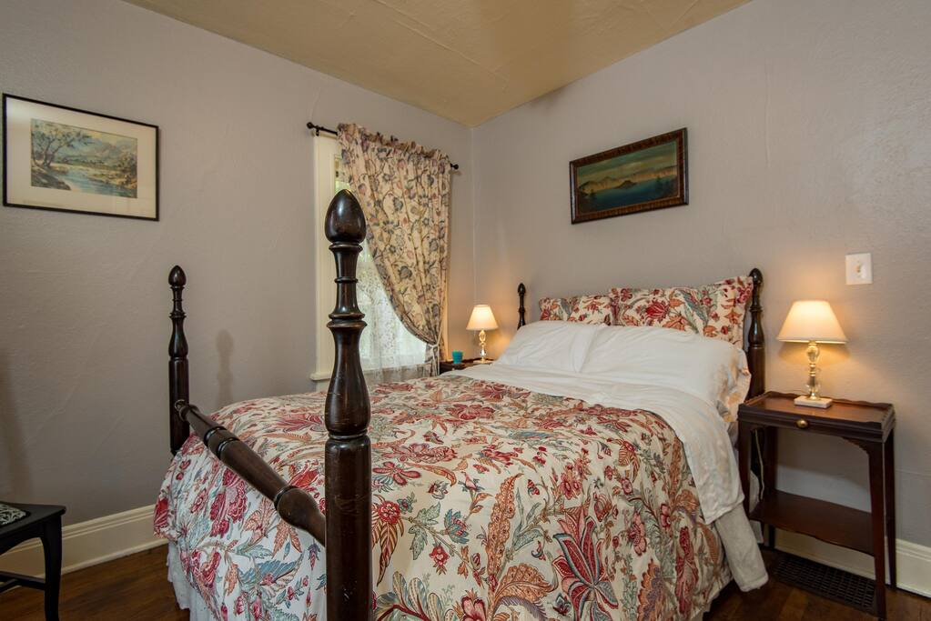 Savoy Bedroom: Full size bed with cushy quilted topper.