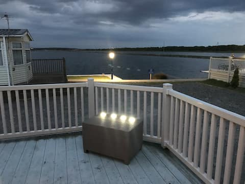 static caravan port haverigg marina.  Marina view.