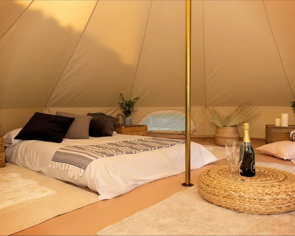 Experience our Luxurious Bell Tent in Cheshire