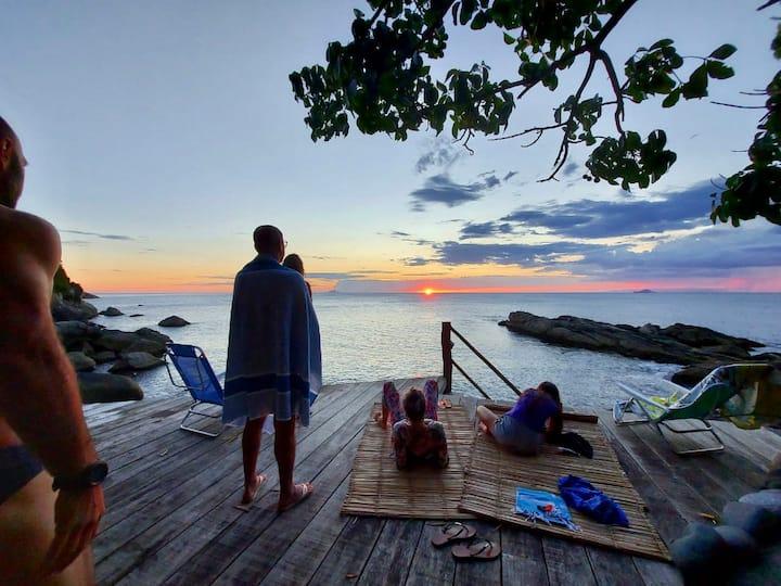 Casinha Romantica frente ao mar Ilhabela/1 quarto