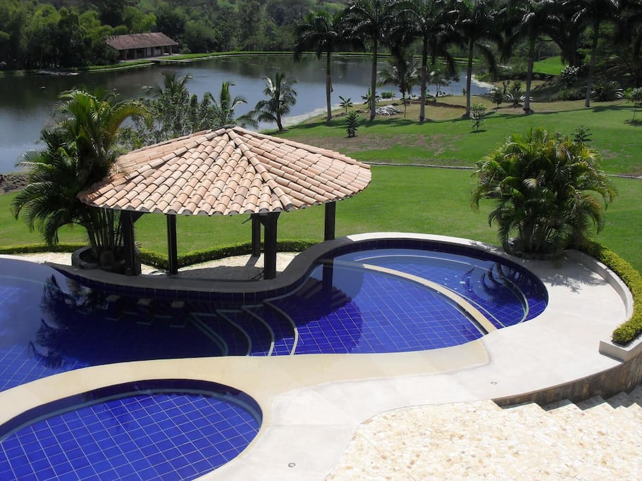 Lake and swimming pool