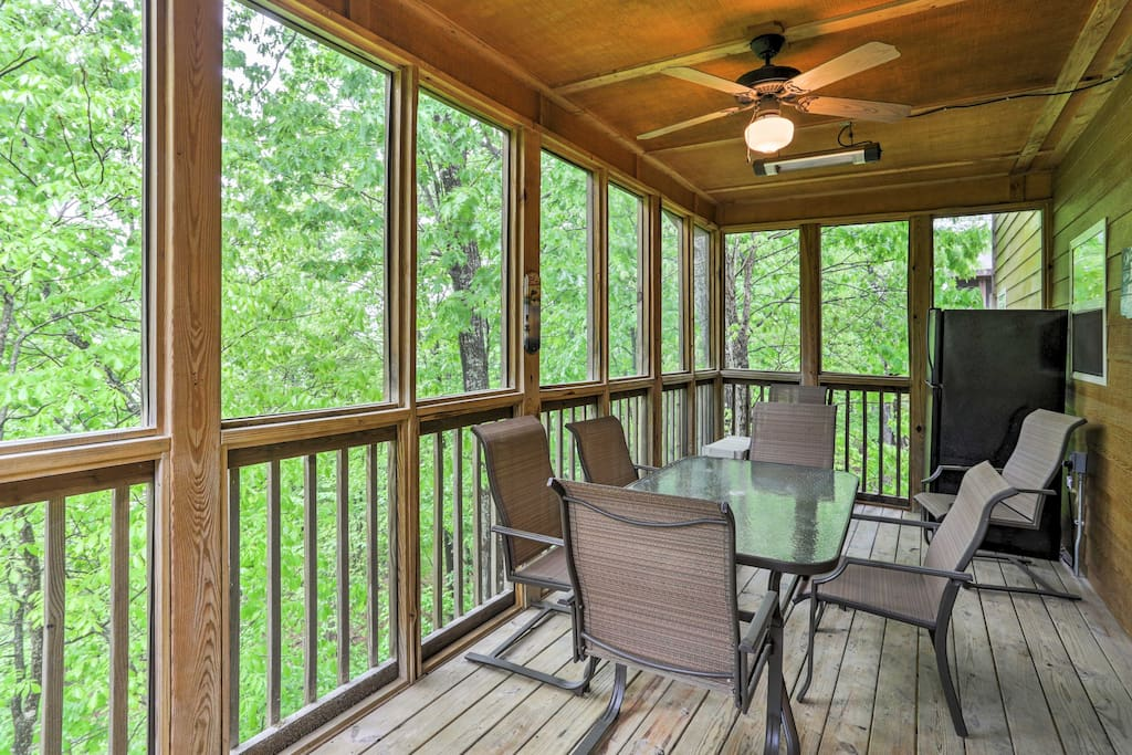 Look forward to sipping a refreshing beverage on the large screened-in porch.