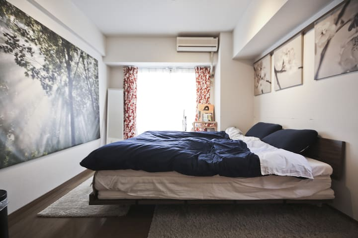 Shimokita king bed room - Setagaya-ku - Daire