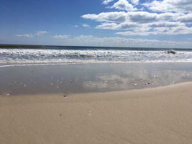 Surf, sun, and sand.