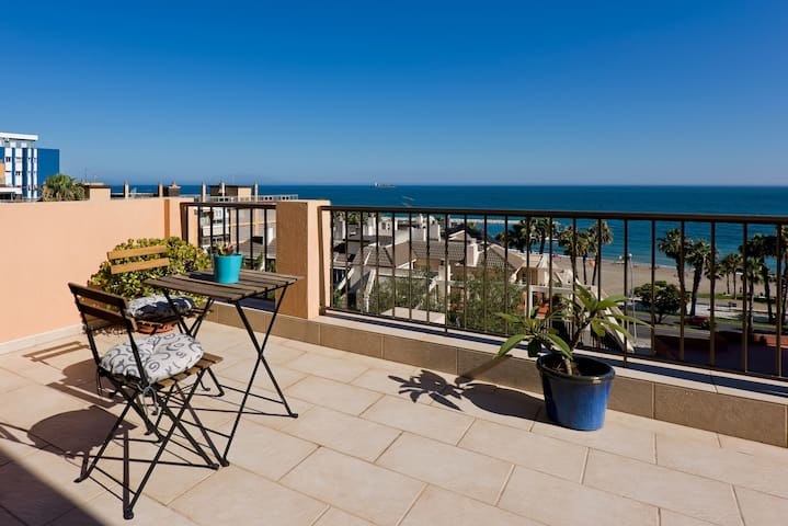 Beachfront apartment with terrace