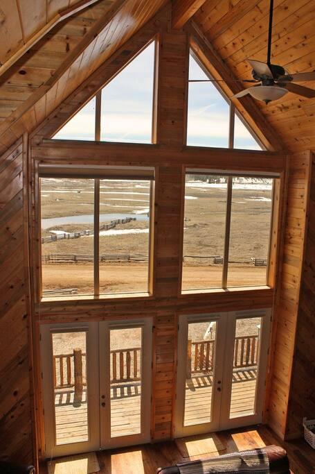 Great Room Windows Overlooking Duck Creek Meadow