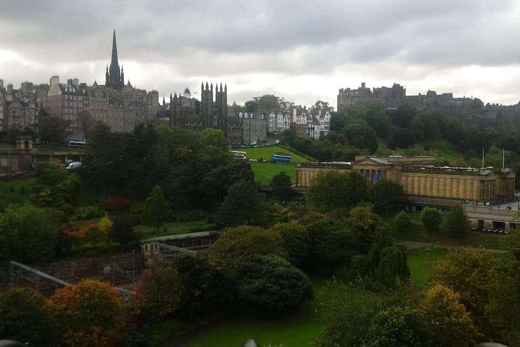 Flat location  is top left of photo. With beautiful uninterrupted views of Central Edinburgh