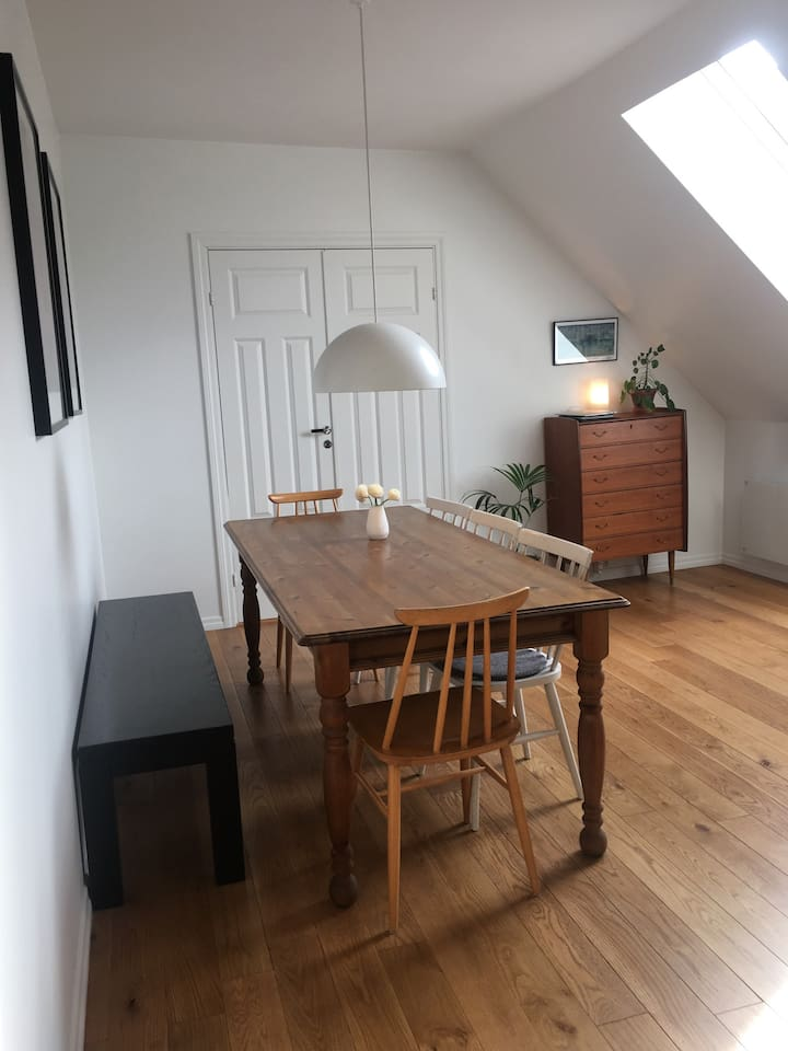 Large and cozy dining room table