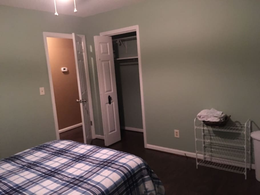 Room, closet and exit