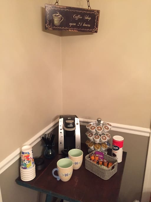 coffee area in dining rrom