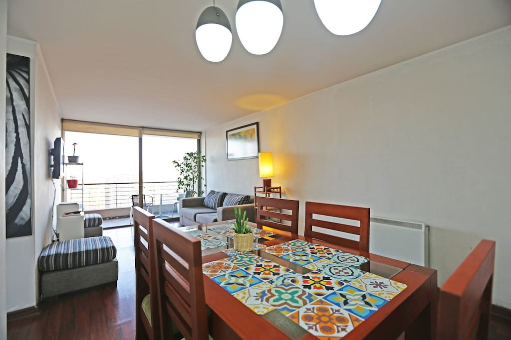 Dining room,  living room, and balcony (24th floor)