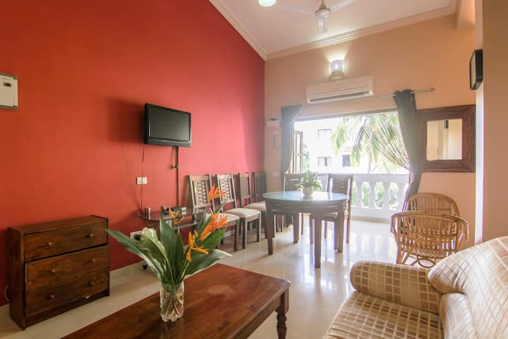 Cozy 2BHK double suite at Varca
