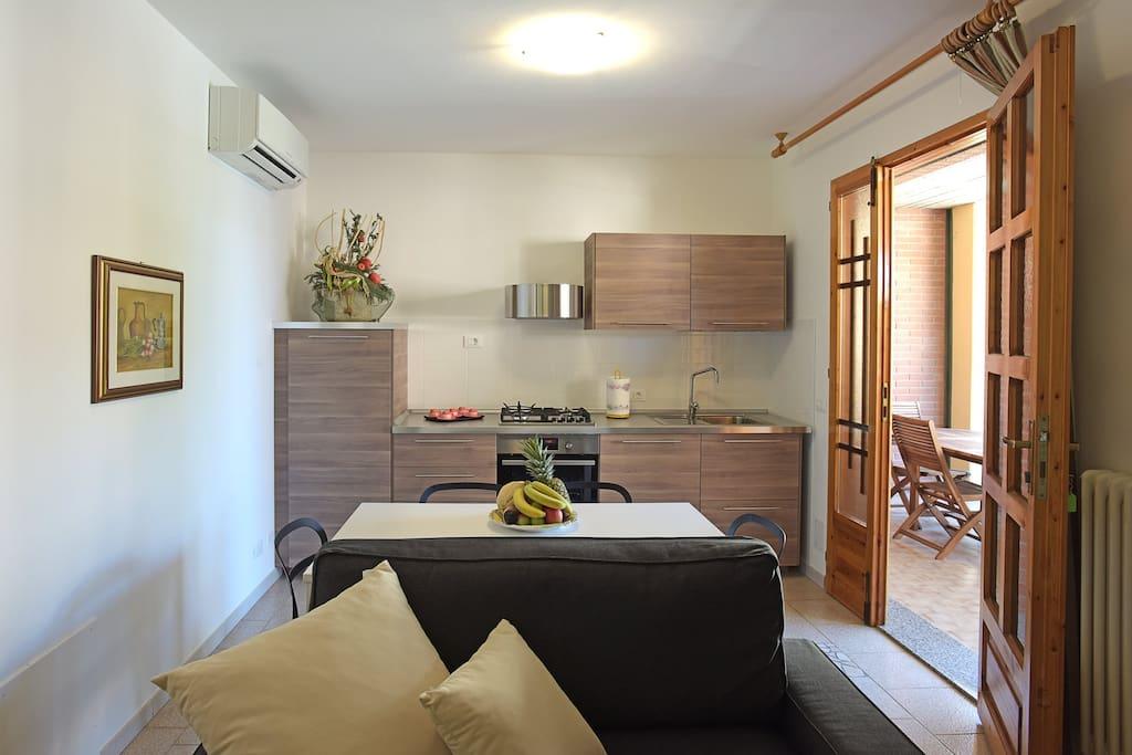 Appartamento con cucina 2 camere da letto